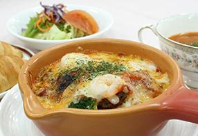 シーフードチーズ焼き~トマトソース~
